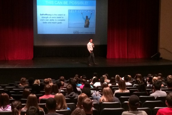 Speaking at Queen Creek High School
