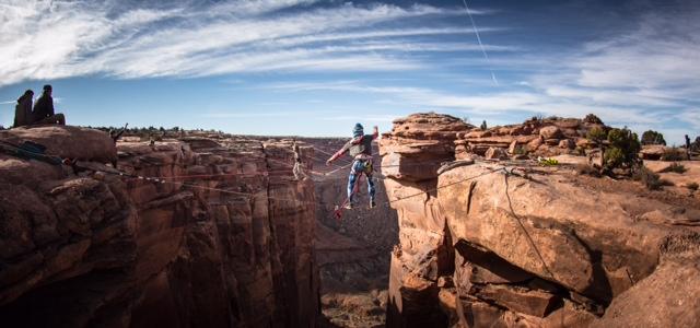 GGBY highlining festival in moab