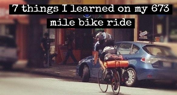 673 mile bike ride