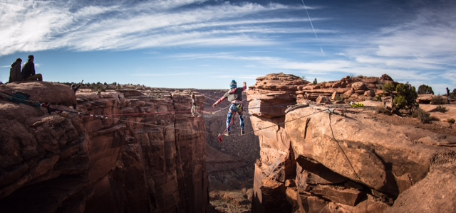 GGBY highlining festival in moab